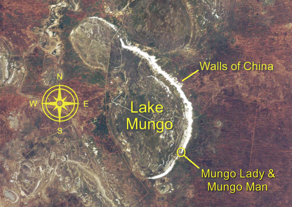 Lake Mungo — Satellite Image by Mapbox