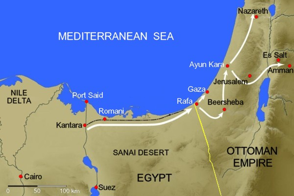 Sinai-Palestine-Campaign-WWI