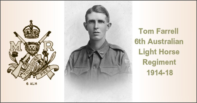 Shell Shock Tom Farrell 6th Australian Light Horse Regiment